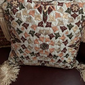 Ivory color decorative pattern  accent pillow